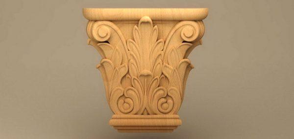 سرستون چوبی