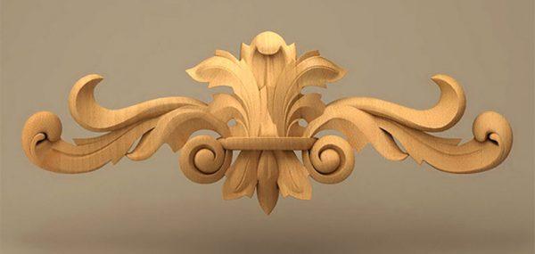 منبت دکوری افقی، سرتاج چوبی